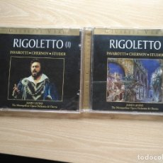CDs de Música: 2 CD RIGOLETTO - GIUSEPPE VERDI - PAVAROTTI CHERNOV STUDER- ED. CENTENARIO. Lote 176125998