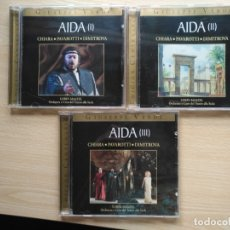 CDs de Música: 3 CD AIDA - GIUSEPPE VERDI - CHIARA PAVAROTTI DIMITROVA- ED. CENTENARIO . Lote 176126622