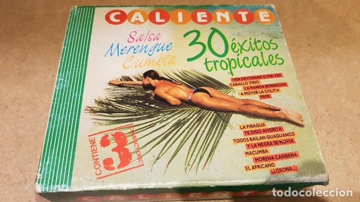 CDs de Música: CALIENTE !! 30 ÉXITOS TROPICALES / SALSA-MERENGUE-CUMBIA / PACK 3 CDS DE LUJO. - Foto 2 - 176155348