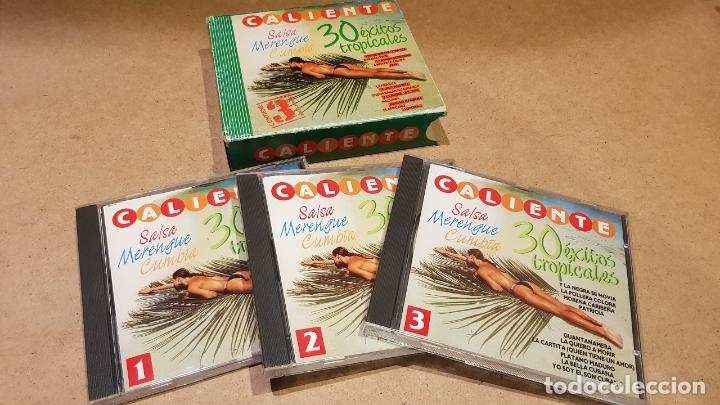 CALIENTE !! 30 ÉXITOS TROPICALES / SALSA-MERENGUE-CUMBIA / PACK 3 CDS DE LUJO. (Música - CD's Latina)