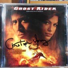 CDs de Música: GHOST RIDER - MUSICA DE CHRISTOPHER YOUNG - CD BSO - FIRMADO POR EL COMPOSITOR. Lote 176214423