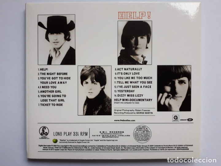 CDs de Música: The Beatles - Help! - Apple Records - 2013 - Foto 4 - 176236478