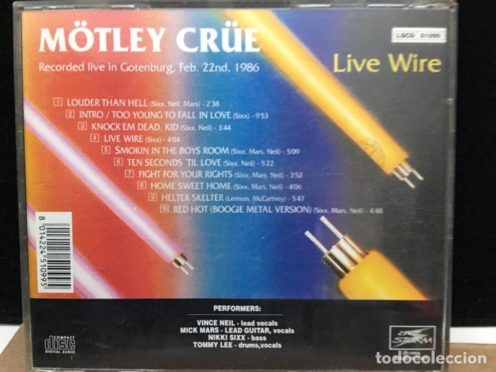 CDs de Música: Mötley Crüe - Live Wire (Directo 1986. Edición limitada (1000 copias)) - Foto 2 - 176249665