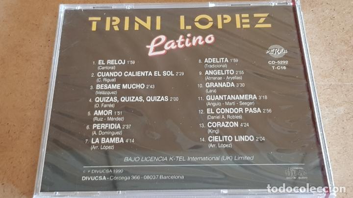 CDs de Música: TRINI LOPEZ / LATINO / CD - PERFIL / 14 TEMAS / PRECINTADO. - Foto 2 - 176281293