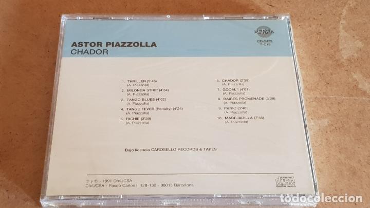 CDs de Música: ASTOR PIAZZOLLA / CHADOR / CD - PERFIL / 10 TEMAS / PRECINTADO. - Foto 2 - 176281718