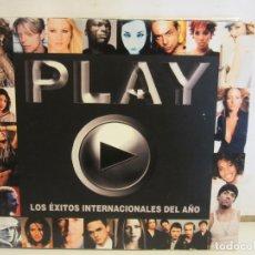 CDs de Música: PLAY LOS EXITOS INTERNACIONALES DEL AÑO - 2 X CD - DIGIPACK - 2003 - EX+/EX+. Lote 176321908