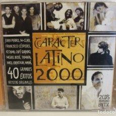 CDs de Música: CARACTER LATINO 2000 - 40 GRANDES EXITOS - 2 X CD - 2000 - NM+/EX+. Lote 176324934
