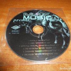 CDs de Música: MAX MUSIC PROMO 37 CD ALBUM PROMO SIN PORTADA SOLO CD DEL AÑO 1996 CONTIENE 6 TEMAS. Lote 176345597