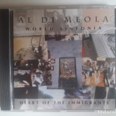 CDs de Música: CD AL DI MEOLA - WORLD SINFONIA - HEART OF THE IMMIGRANTS. Lote 176347674