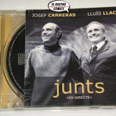 CD de Música: JOSEP CARRERAS, LLUÍS LLACH, JUNTS, EN DIRECTE, PALAU SAN JORDI 2002, CD. Lote 176364135