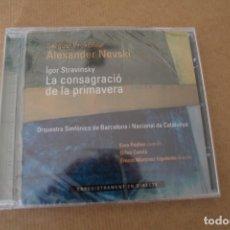CDs de Música: LA CONSAGRACIÓ DE LA PRIMAVERA PROKÓFIEV NEVSKI STRAVINSKY CD ORQUESTA SINFONICA DE BARCELONA. Lote 176441754