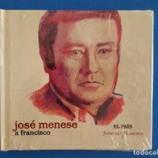 CDs de Música: CD LIBRO / JOSÉ MENESE / A FRANCISCO / EL PAÍS - JOYAS DEL FLAMENCO / NUEVO. Lote 176447249