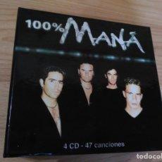 CDs de Música: MANÁ - 100% MANÁ (CAJA 4 CDS). Lote 176506337