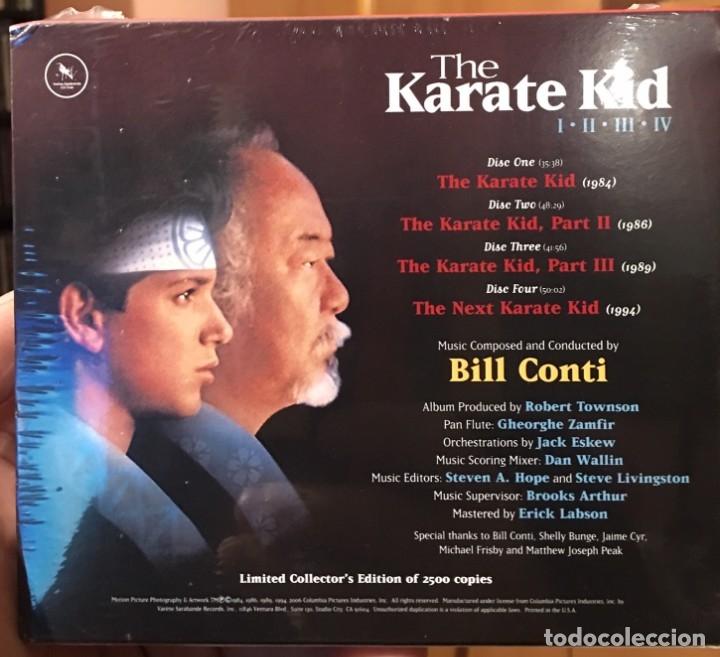 CDs de Música: KARATE KID I-II-III-IV - Musica de BILL CONTI - VARESE CD CLUB - BSO Caja 4 cd´s LIMITADA Precintado - Foto 2 - 176508742