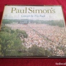 CDs de Música: PAUL SIMON - PAUL SIMON'S CONCERT IN THE PARK - 2 X CD. Lote 176556439