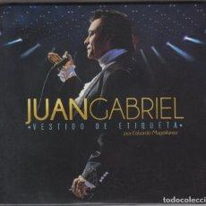 CDs de Música: JUAN GABRIEL 2 CD'S + DVD VESTIDO DE ETIQUETA 2016. Lote 176622372