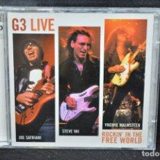 CDs de Música: JOE SATRIANI & STEVE VAI & YNGWIE MALMSTEEN - G3 LIVE: ROCKIN' IN THE FREE WORLD - 2 CD. Lote 176670928