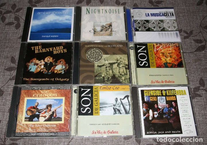 CDs de Música: MUSICA CELTA.LOTE 16 CDS.ALTAN.CLANNAD.NIGHTNOISE.MILLADOIRO.NA LUA.EMILIO CAO.BERROGÜETO.FOLK. - Foto 2 - 176674379