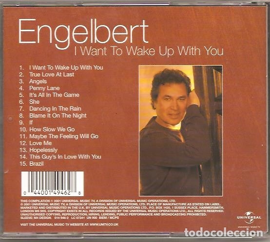 CDs de Música: ENGELBERT HUMPERDINCK - I WANT TO WAKE UP WITH YOU - Foto 3 - 176694400