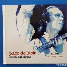CDs de Música: CD LIBRO / PACO DE LUCIA / ENTRE DOS AGUAS / EL PAÍS - JOYAS DEL FLAMENCO / CON MARCAS DE USO. Lote 176783805