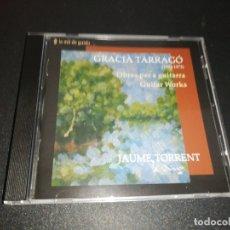 CDs de Música: JAUME TORRENT, GRACIA TARRAGO 1892-1973,OBRES PER GUITARRA . Lote 176787474