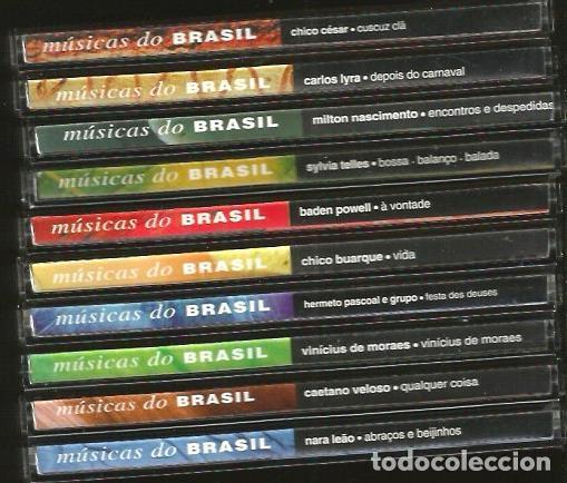 10 CD MUSICAS DO BRASIL : CHICO BUARQUE BADEN POWELL CAETANO VELOSO MILTON NASCIMENTO CARLOS LYRA (Música - CD's World Music)