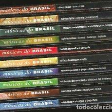 CDs de Música: 10 CD MUSICAS DO BRASIL : CHICO BUARQUE BADEN POWELL CAETANO VELOSO MILTON NASCIMENTO CARLOS LYRA. Lote 176828279