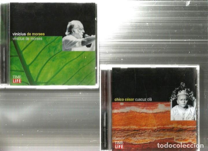 CDs de Música: 10 CD MUSICAS DO BRASIL : CHICO BUARQUE BADEN POWELL CAETANO VELOSO MILTON NASCIMENTO CARLOS LYRA - Foto 4 - 176828279
