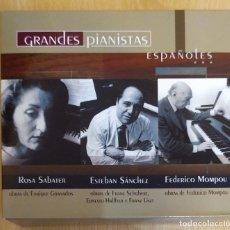 CDs de Música: GRANDES PIANISTAS ESPAÑOLES (ROSA SABATER - ESTEBAN SANCHEZ - FEDERICO MOMPOU) 3 CD'S 2003 RTVE. Lote 176864882