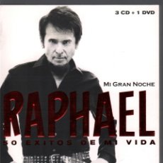 CDs de Música: RAPHAEL - 50 EXITOS DE SU VIDA + 3 CD - DVD DE 2013 RF-2963 , IMPECABLE ESTADO. Lote 176879188