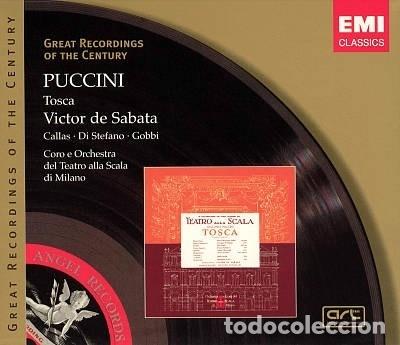 PUCCINI - TOSCA - CALLAS - VICTOR DE SABATA - EMI (Música - CD's Clásica, Ópera, Zarzuela y Marchas)