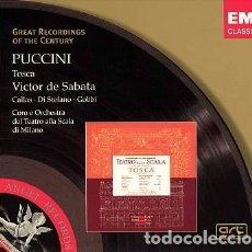 CDs de Música: PUCCINI - TOSCA - CALLAS - VICTOR DE SABATA - EMI. Lote 176905797
