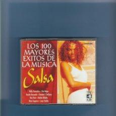 CDs de Música: 4 CD'S - LOS 100 MAYORES ÉXITOS DE LA MÚSICA SALSA. Lote 176907393