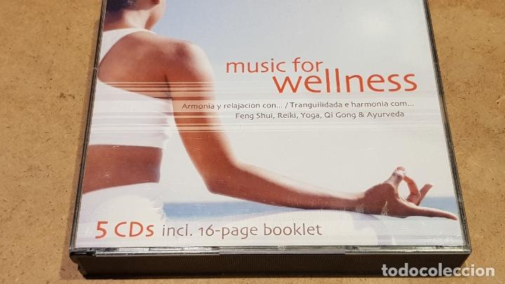 MUSIC FOR WELLNESS / FENG SHUI-REIKI-YOGA-ETC... PACK 5 CDS DE BUENA CALIDAD. (Música - CD's New age)