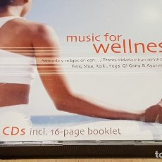 CDs de Música: MUSIC FOR WELLNESS / FENG SHUI-REIKI-YOGA-ETC... PACK 5 CDS DE BUENA CALIDAD.. Lote 176929552