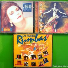 CDs de Música: LOTE 3 CDS: ROCÍO JURADO, ROSARIO, LAS MEJORES RUMBAS (DOBLE). Lote 177014629