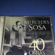 CDs de Música: MERCEDES SOSA * PARA CANTAR HE NACIDO * 40 OBRAS * 2 CDS IMPECABLES. Lote 177044200