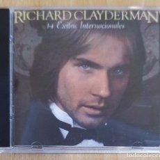 CDs de Música: RICHARD CLAYDERMAN (14 EXITOS INTERNACIONALES) CD 1996 USA. Lote 177057742