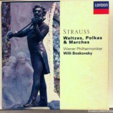 CDs de Música: THE STRAUSS FAMILY: WALTZES, POLKAS & MARCHES COLECCIÓN LUJO 6 CDS LONDON WILLI BOSKOVSKY DECCA. Lote 177201973