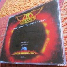 CDs de Música: AEROSMITH- MAXI-CD TITULO I DON'T WANT TO MISS A THING-DE LA B.S.O. ARMAGEDDON-4 TEMAS- PLASTIFICADO. Lote 177271053