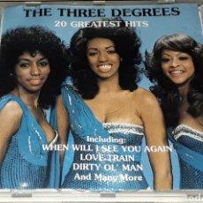 CDs de Música: CD - THE THREE DEGREES - 20 GREATEST HITS - THREE DEGREES. Lote 177278039