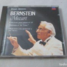 CDs de Música: BERNSTEIN. MOZART CONCIERTO PARA PIANO Nº 15 - SINFONÍA Nº 36 DECCA. Lote 177404627