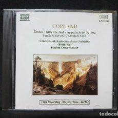 CDs de Música: OPERA CLÁSICA COPLAND RODEO BILLY THE KID APPALACHIAN SPRING STEPHEN GUNZENHAUSER 1 CD. Lote 177451598