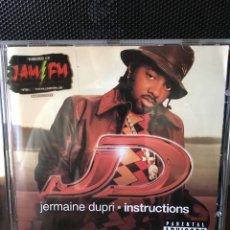 CDs de Música: JERMAINE DUPRI-INSTRUCTIONS--2001-USA-MUY NUEVO. Lote 177491797