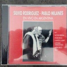 CDs de Música: SILVIO RODRÍGUEZ Y PABLO MILANÉS. EN VIVO EN ARGENTINA. CON V. HEREDIA, L. GIECO, PIERO, C.ISELLA.... Lote 172812775