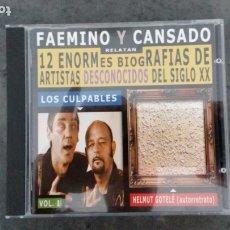 CDs de Música: FAEMINO Y CANSADO. 12 ENORMES BIOGRAFÍAS DE ARTISTAS DESCONOCIDOS DEL SIGLO XX. Lote 177500802
