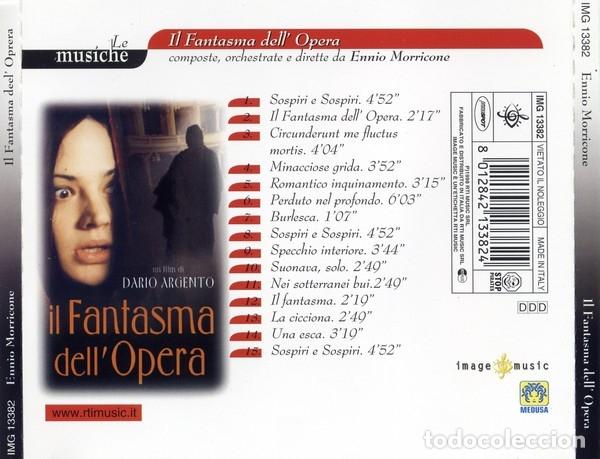 CDs de Música: IL FANTASMA DELL´OPERA / Ennio Morricone CD BSO - IMAGE - Foto 2 - 177518967