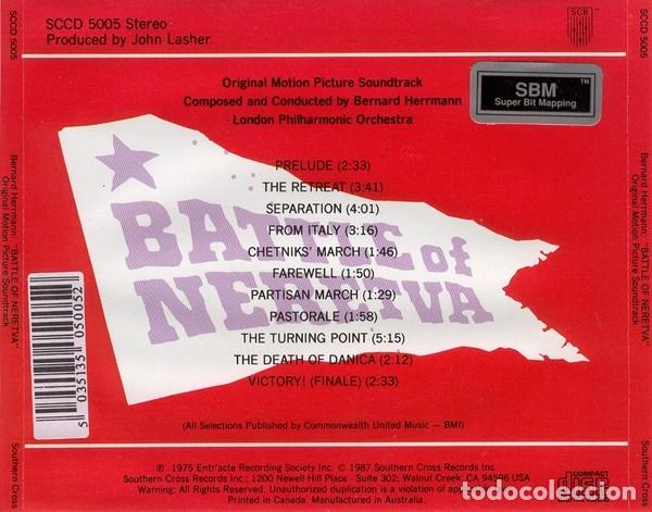 CDs de Música: BATTLE OF NERETVA / Bernard Herrmann CD BSO - Foto 2 - 177520137