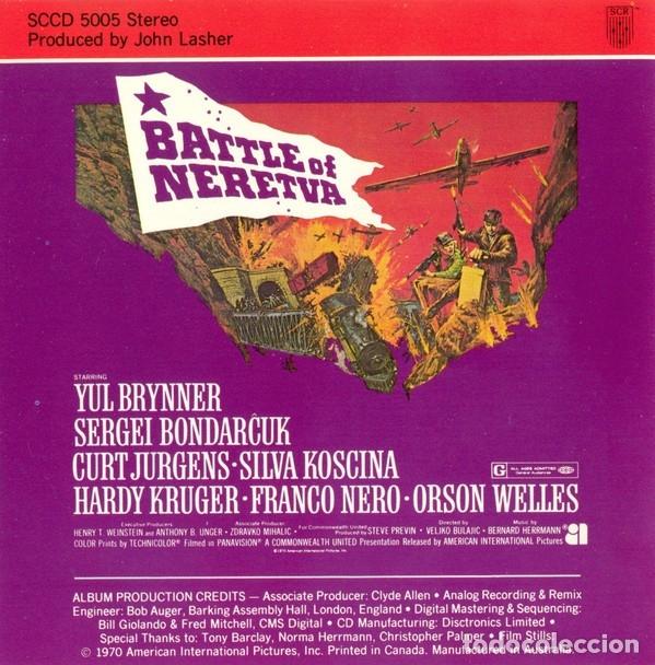 CDs de Música: BATTLE OF NERETVA / Bernard Herrmann CD BSO - Foto 3 - 177520137