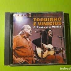 CDs de Música: TOQUINHO E VINICIUS - O POETA E O VIOLAO - 10 ANOS SEM VINICIUS - 1999 - COMPRA MÍNIMA 3 EUROS. Lote 177527692